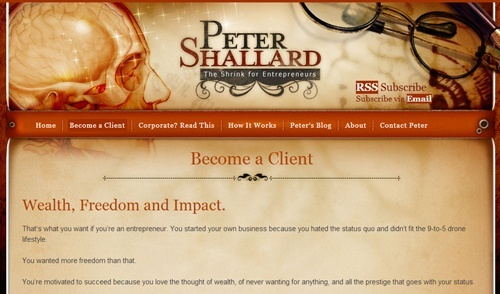 Peter Shallard Client Sales Page
